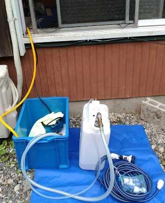 おそうじ本舗 エアコンクリーニング 水